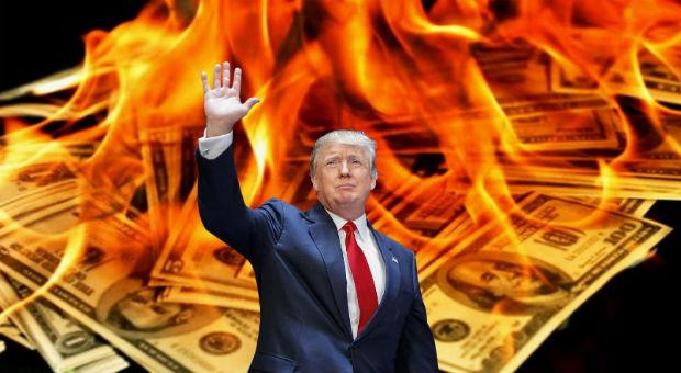 Дональд Трамп обваливает доллар